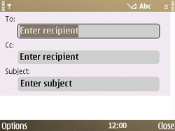 Nokia E72 - Email - Sending an email message - Step 6