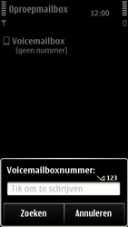 Nokia 500 - Voicemail - handmatig instellen - Stap 7