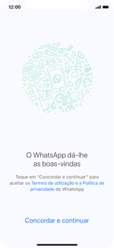 Apple iPhone X - Aplicações - Como configurar o WhatsApp -  7