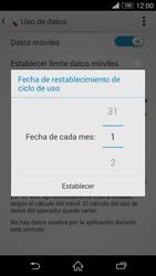 Sony Xperia Z3 - Internet - Ver uso de datos - Paso 7