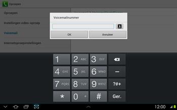 Samsung P5100 Galaxy Tab 2 10-1 - Voicemail - handmatig instellen - Stap 8