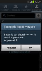 Samsung S7390 Galaxy Trend Lite - Contacten en data - Contacten overzetten via Bluetooth - Stap 12