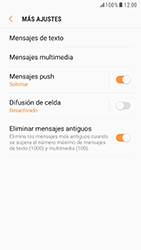 Samsung Galaxy S6 - Android Nougat - Mensajería - Configurar el equipo para mensajes de texto - Paso 7