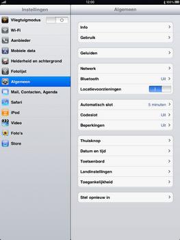 Apple iPad 2 - Instellingen aanpassen - Fabrieksinstellingen terugzetten - Stap 3
