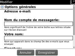 BlackBerry curve 3G - E-mails - Ajouter ou modifier un compte e-mail - Étape 14