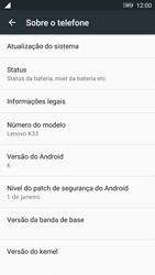 Lenovo Vibe K6 - Funções básicas - Como atualizar o software do seu aparelho - Etapa 5