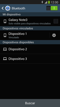 Samsung Galaxy Note 3 - Bluetooth - Conectar dispositivos a través de Bluetooth - Paso 8