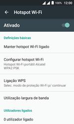 Alcatel Pixi 4 - Wi-Fi - Como usar seu aparelho como um roteador de rede wi-fi - Etapa 12