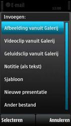 Nokia X6-00 - E-mail - e-mail versturen - Stap 10