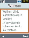 Samsung B2100 Xplorer - E-mail - Handmatig instellen - Stap 11