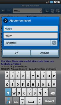 Samsung P1000 Galaxy Tab - Internet - Navigation sur Internet - Étape 9