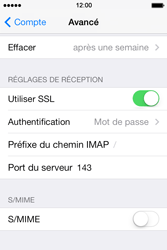 Apple iPhone 4 S iOS 7 - E-mail - Configuration manuelle - Étape 25