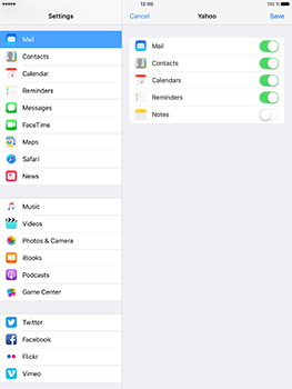 Apple iPad Air 2 iOS 10 - E-mail - Manual configuration (yahoo) - Step 8