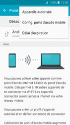 Samsung Galaxy S6 Edge - Internet et connexion - Partager votre connexion en Wi-Fi - Étape 7