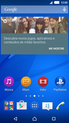Sony Xperia M4 Aqua - Primeiros passos - Baixar o manual - Etapa 1