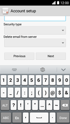 Huawei Ascend Y530 - E-mail - Manual configuration - Step 11