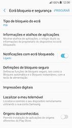Samsung Galaxy A5 (2017) - Segurança - Como ativar o código de bloqueio do ecrã -  13