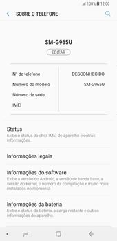 Samsung Galaxy S9 Plus - Primeiros passos - Como encontrar o número de IMEI do seu aparelho - Etapa 5