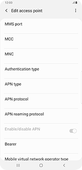 Samsung galaxy-s9-plus-android-pie - MMS - Manual configuration - Step 11