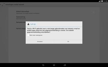 Sony Xperia Tablet Z2 4G (SGP521) - Internet - Uitzetten - Stap 7