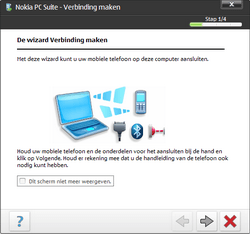 Nokia E70 - Software - PC-software installeren - Stap 12