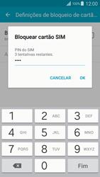 Samsung Galaxy S4 LTE - Segurança - Como ativar o código PIN do cartão de telemóvel -  9