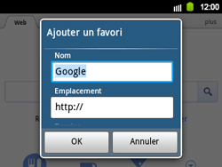 Samsung B5510 Galaxy TXT - Internet - navigation sur Internet - Étape 5