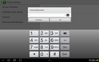 Samsung N8000 Galaxy Note 10-1 - Voicemail - handmatig instellen - Stap 9