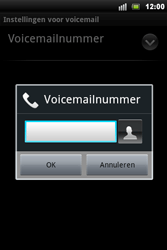 Sony Xperia Mini Pro - Voicemail - Handmatig instellen - Stap 7