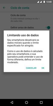 Motorola Moto G6 Plus - Rede móvel - Como definir um aviso e limite de uso de dados - Etapa 12