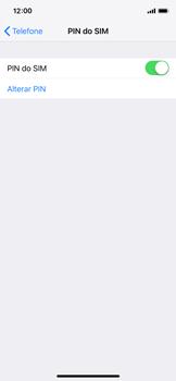 Apple iPhone X - iOS 12 - Segurança - Como ativar o código PIN do cartão de telemóvel -  8