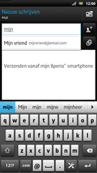 Sony LT22i Xperia P - E-mail - e-mail versturen - Stap 5