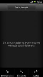 Sony Xperia J - Mensajería - Configurar el equipo para mensajes de texto - Paso 5
