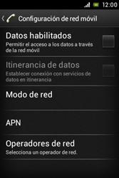 Sony Xperia E - Internet - Activar o desactivar la conexión de datos - Paso 7
