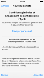 Apple iPhone SE - iOS 10 - Applications - Créer un compte - Étape 10