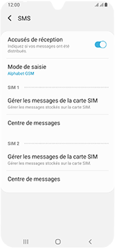 Samsung Galaxy A40 - SMS - configuration manuelle - Étape 11