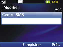 LG C320 InTouch Lady - SMS - Configuration manuelle - Étape 7