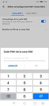 Huawei Mate 20 Pro - Sécurité - modifier SIM PIN - Étape 13
