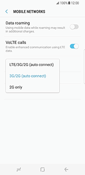 Samsung Galaxy S8 - Network - Enable 4G/LTE - Step 7