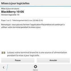 BlackBerry Passport - Réseau - Installation de mises à jour - Étape 8