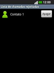 LG E400 - Chamadas - Como bloquear chamadas de um número -  11