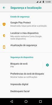 Motorola Moto G6 - Segurança - Como ativar o código de bloqueio do ecrã -  13