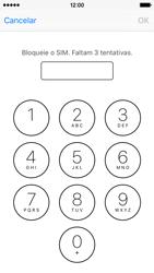 Apple iPhone 5s iOS 9 - Segurança - Como ativar o código PIN do cartão de telemóvel -  6