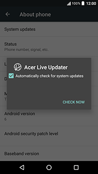 Acer Liquid Zest 4G Plus - Device - Software update - Step 7