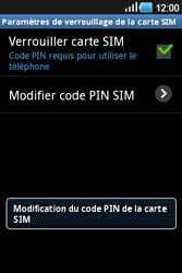Samsung Galaxy Ace - Sécuriser votre mobile - Personnaliser le code PIN de votre carte SIM - Étape 10