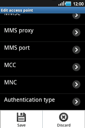 Samsung S5660 Galaxy Gio - MMS - Manual configuration - Step 11