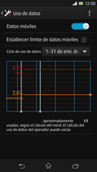 Sony Xperia Z - Internet - Ver uso de datos - Paso 12