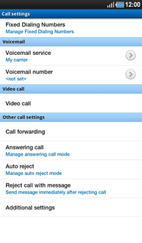 Samsung P1000 Galaxy Tab - Voicemail - Manual configuration - Step 5