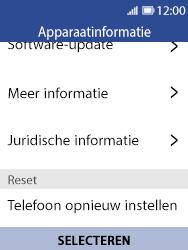 Nokia 8110 - Resetten - Fabrieksinstellingen terugzetten - Stap 6