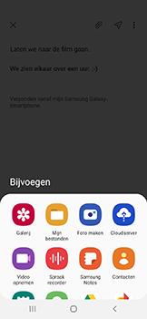Samsung galaxy-a20e-dual-sim-sm-a202f - E-mail - Bericht met attachment versturen - Stap 12